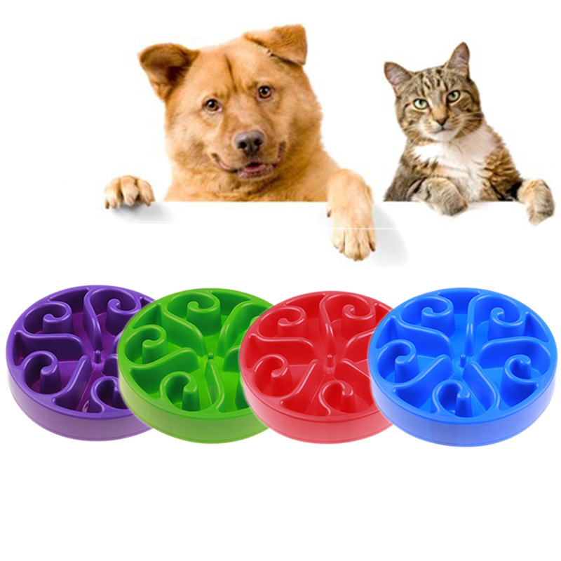 Dog Cat Pet Slow Feeder Water Bowl Feed Dish Puppy Hot 1 Pcs Bowl Bloat