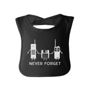 Never Forget Black Cotton Baby Bib Funny Baby Gifts For Christmas