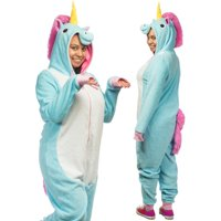 Forum Novelties Plush Colorful Unicorn Adult Jumpsuit Costume