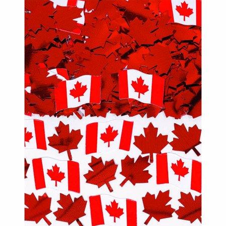 - Canadian Flag Printed Confetti Mix - 0.5 oz