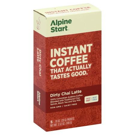 Alpine Start Dirty Chai Latte Instant Coffee, 5