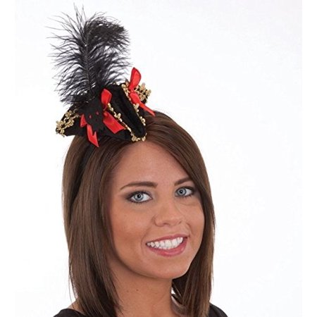 Pirate Mini Hat on Headband Adult Caribbean Buccaneer Womens Costume Accessory
