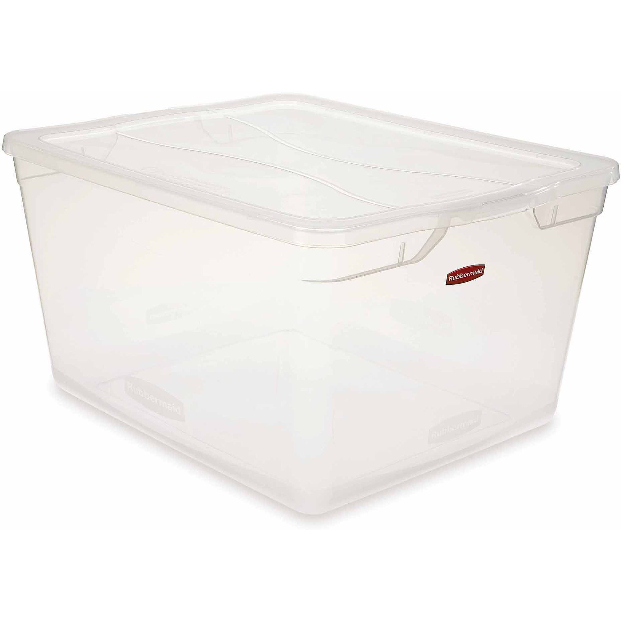 Rubbermaid Cleverstore Clear 71-Quart Non-Latching, Clear