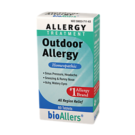 Homoeopathic Treatment - bioAllers Allergy Treatment Outdoor Allergy Relief Tablets, 60 Ct