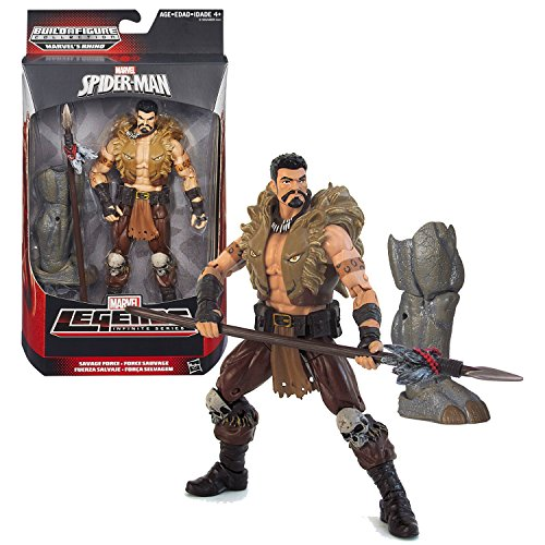 Hasbro Year 2015 Marvel Legends Infinite Series 6 Inch Tall Action Figure - Savage Force KRAVEN with Spear and Rhinos Right Leg - image 1 de 1
