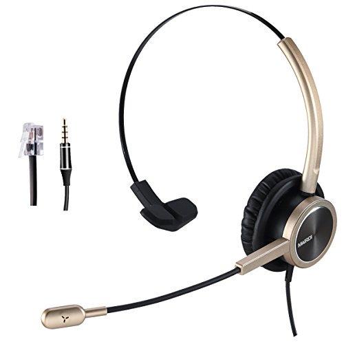 Telephone Headset Rj9 For Landlines Phone Call Center With Noise Cancelling Microphone For Yealink Grandstream Snom Panasonic Walmart Com Walmart Com