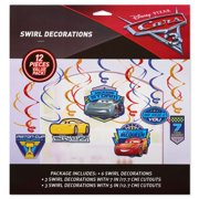 Cars 3 Birthday Party Hanging Swirl Decorations 12 Count Image 2 Of
