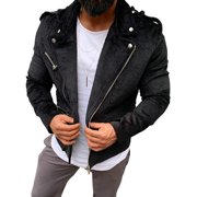 HCgsss Men's Long Sleeve Solid Color Corduroy Coat Tops