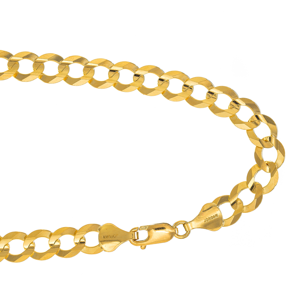 "14k Solid Yellow Gold 10mm Curb Chain Bracelet 8.5"" Lobster Claw Clasp by JewelStop"