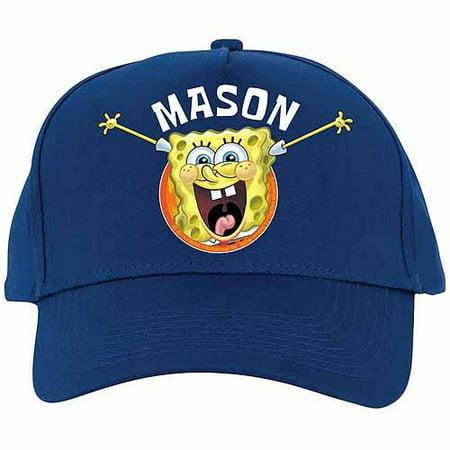 Personalized SpongeBob SquarePants Blue Baseball Hat - Spongebob Hat