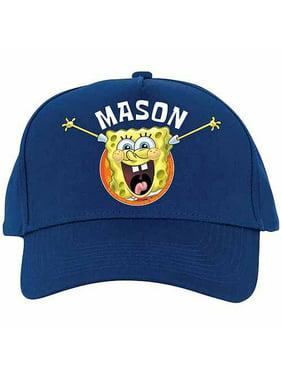 Personalized SpongeBob SquarePants Blue Baseball Hat