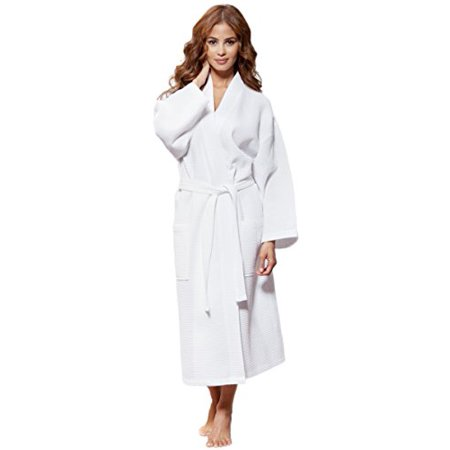 0bf70430d2 Turquaz Linen - Turquaz Linen Lightweight Long Waffle Kimono Unisex Spa Robe  (Small Medium
