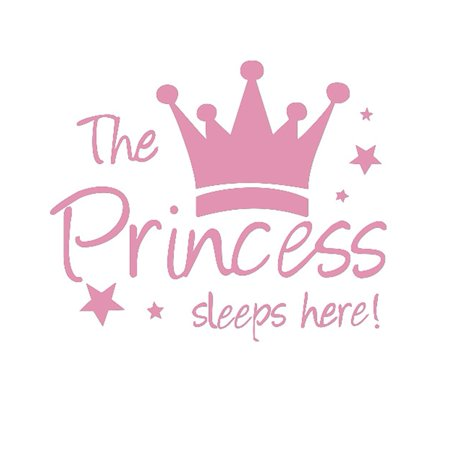 Removable The Princess Wall Sticker Crown Wall Sticker Girls Bedroom Decor Baby Room Art Decal