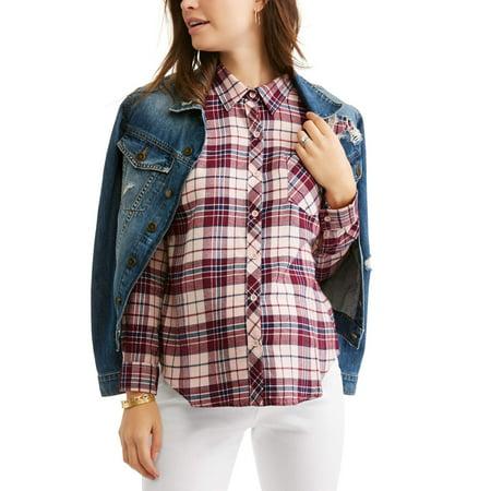 Sleeve Maternity Hoodie - Maternity Long Sleeve Plaid Shirt