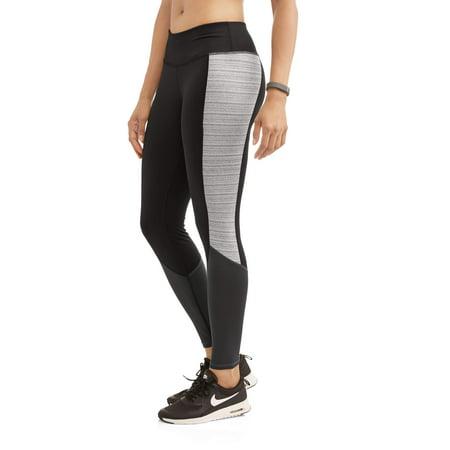 Danskin Now Women's Full Length Performance Leggings With Contrast Side Inset
