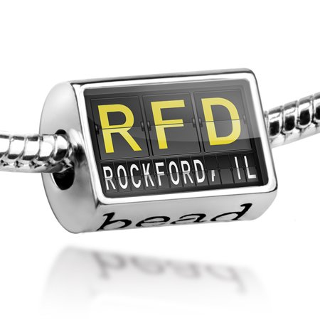 Bead RFD Airport Code for Rockford, IL Charm Fits All European Bracelets (Party City Rockford Il)