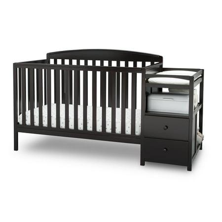 Delta Children Royal 4-in-1 Convertible Crib and Changer, Dark Chocolate