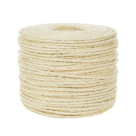 Golberg Twisted Sisal Rope Available in 1/4, 5/16, 3/8, 1/2, 3/4, and 1-inch Diameters in Various (Surveyors Rope)