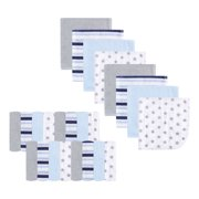 Luvable Friends Baby Boy and Girl Washcloths, 24-Pack - Stars & Stripes
