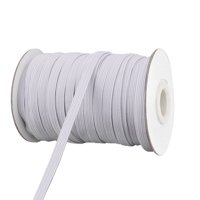 Polyester Sewing Tool Stretchy Elastic Band Spool White 29.5 Yards x 0.2 Inch