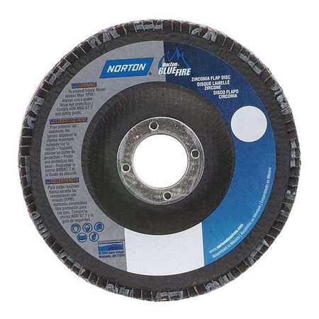 NORTON 66623399049 Flap Disc4 In x 36 Grit5 8