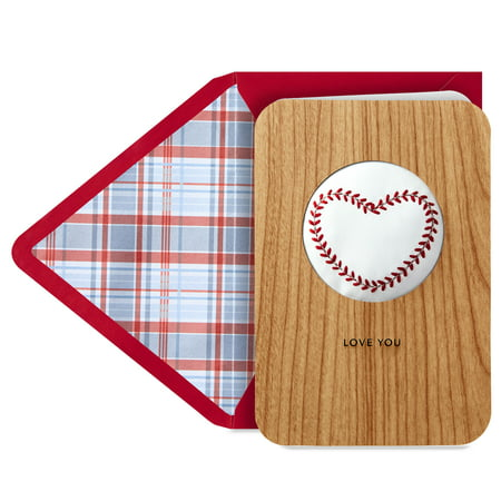 Hallmark Signature Father's Day Card (Wood Baseball) - Father's Day Diy