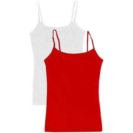 1e0584d5e7 TheLovely - Women s   Juniors  Camisole Built-in Shelf Bra Adjustable  Spaghetti Straps Tank Top 2 Pack or 4 Pack - Walmart.com