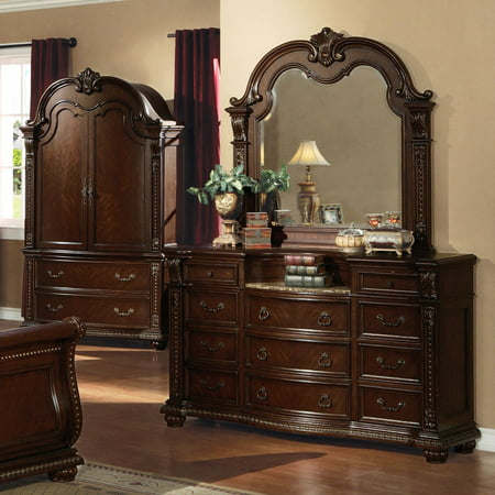 Acme Furniture Anondale Marble Top 9 Drawer Dresser ()