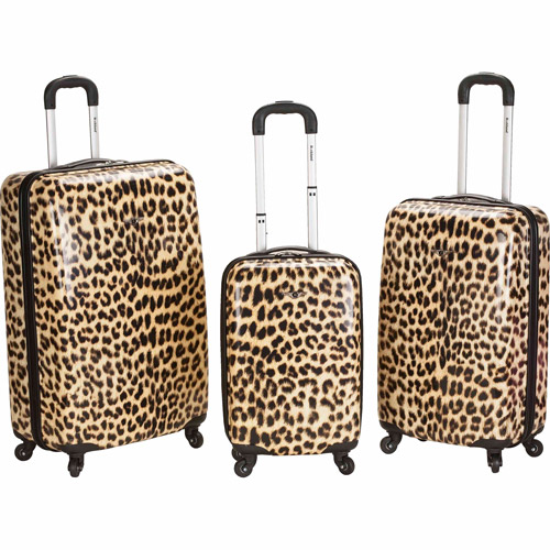Rockland Luggage 3-Piece ABS Spinner Luggage Set