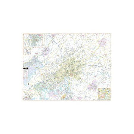Universal Map Laminated Ra-Knoxville TN Wall Map, 59.5'' x 78'' - Halloween City Knoxville Tn