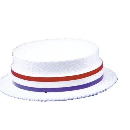 Styrofoam Straw Skimmer Hat (Pack of 24 hats) ()