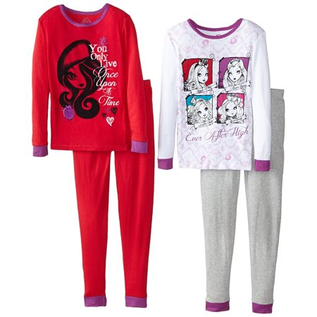 Ever After High Big Girls' Character 4-Piece Pajama - Character Day Ideas For Girls