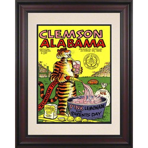 NCAA - 1969 Clemson vs. Alabama 10.5x14 Framed Historic Football Print