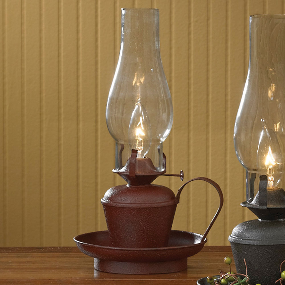 "Park Designs 14"" Oil Lamp, Choice of Red or Black by Park Designs"