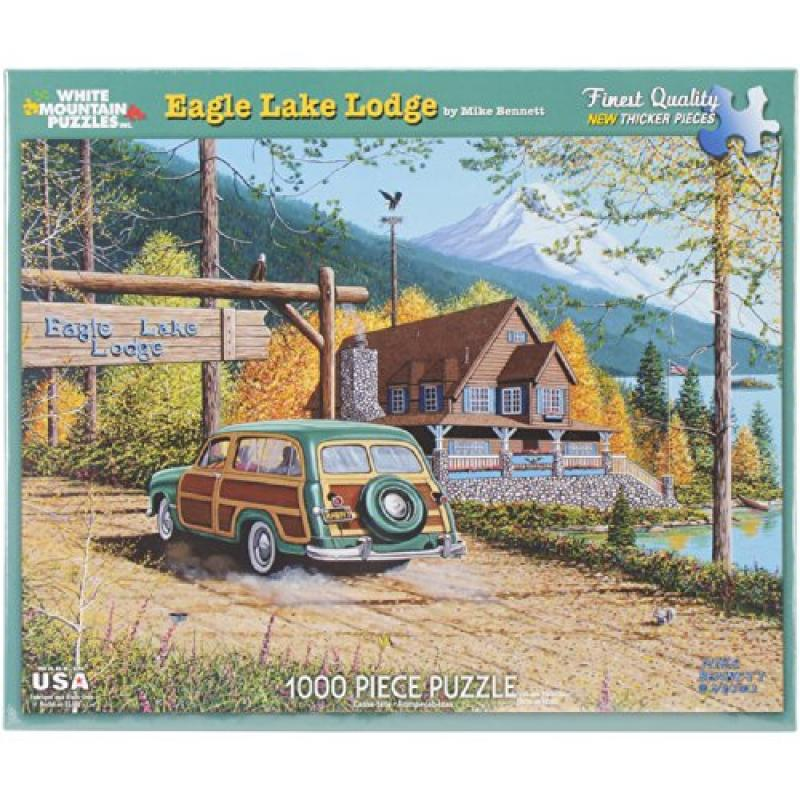 White Mountain Puzzles Eagle Lake Lodge Puzzle, 1000 Pieces