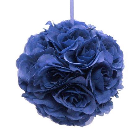Silk Flower Kissing Balls Wedding Centerpiece, 10-inch, Royal Blue (Kissing Ball Centerpieces)