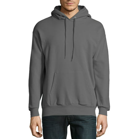 Hanes Ultimate Cotton Crewneck Sweatshirt - Hanes Men's Ecosmart Fleece Pullover Hoodie with Front Pocket