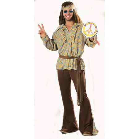 Mod Marvin Woodstock Hippie 1960s 1970s Mens Costume R15814 - Standard Large (42-44