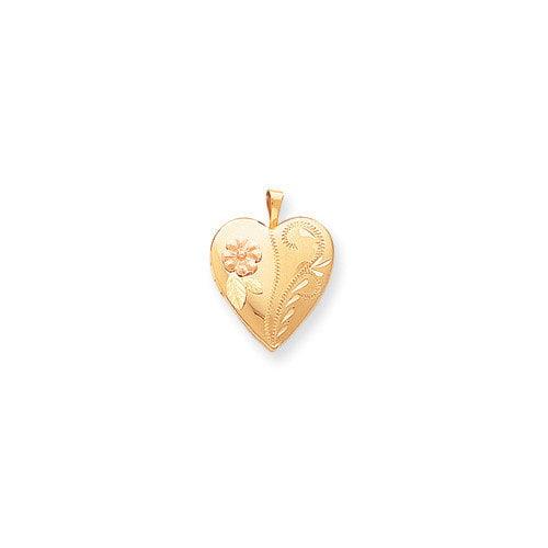 Jewelryweb 10k Black Hills Gold 14k Gold-Filled Heart Locket