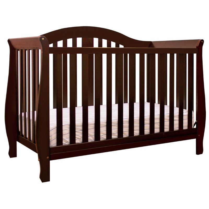 AFG Baby Desiree 4-in-1 Convertible Crib White by Athena