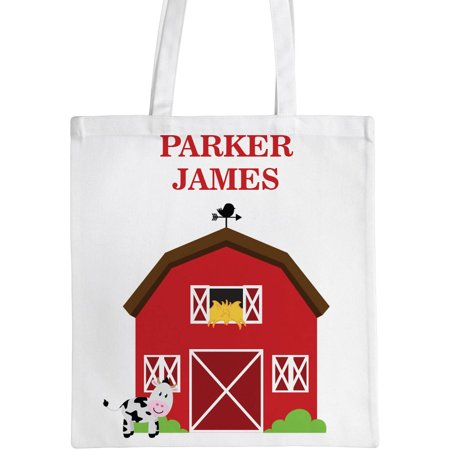 Personalized Barn Kids Tote Bag, Sizes 11