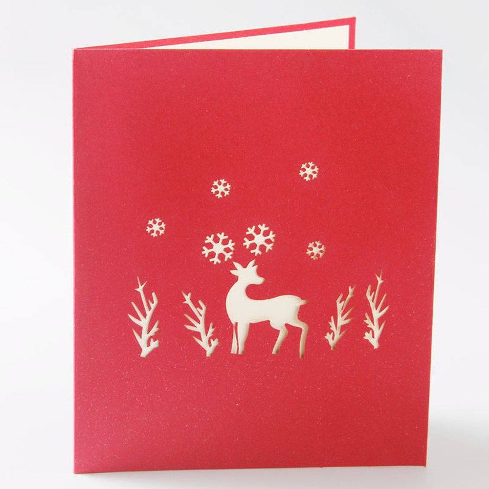 DZT1968 Merry Christmas 3D Cards Wedding Lover Happy Birthday Anniversary Greeting Cards
