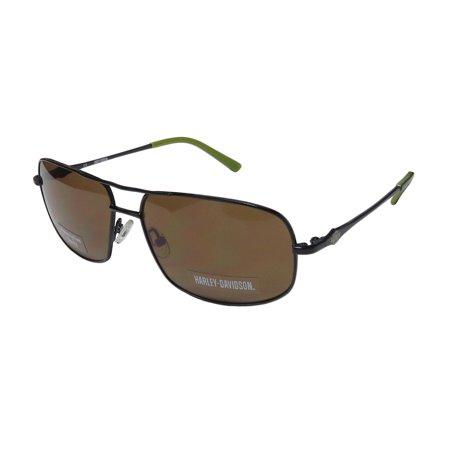 New Harley-Davidson Hdx 894 Mens Designer Full-Rim 100% UVA & UVB Black Genuine Must Have Modern Shades Sunnies Frame Brown Lenses 59-15-140 Sunglasses/Sun Glasses ()