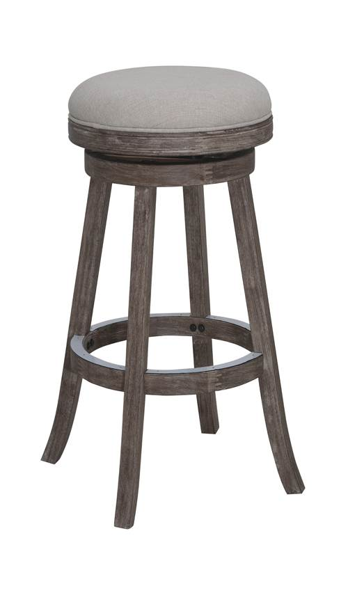 24 in. Wire Brush Swivel Counter Stool in Brown by Boraam