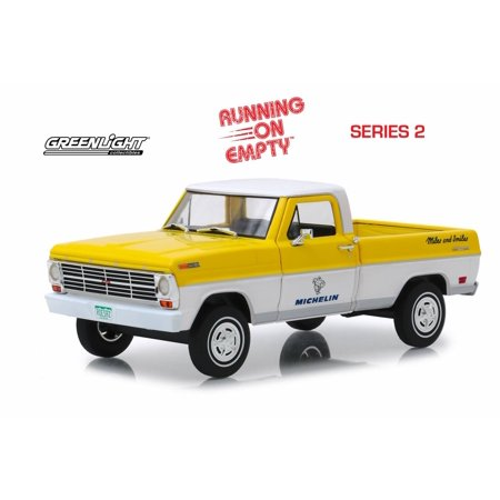 1968 Ford F-100 Pickup Truck, Michelin Tires - Greenlight 85023 - 1/24 scale Diecast Model Toy Car