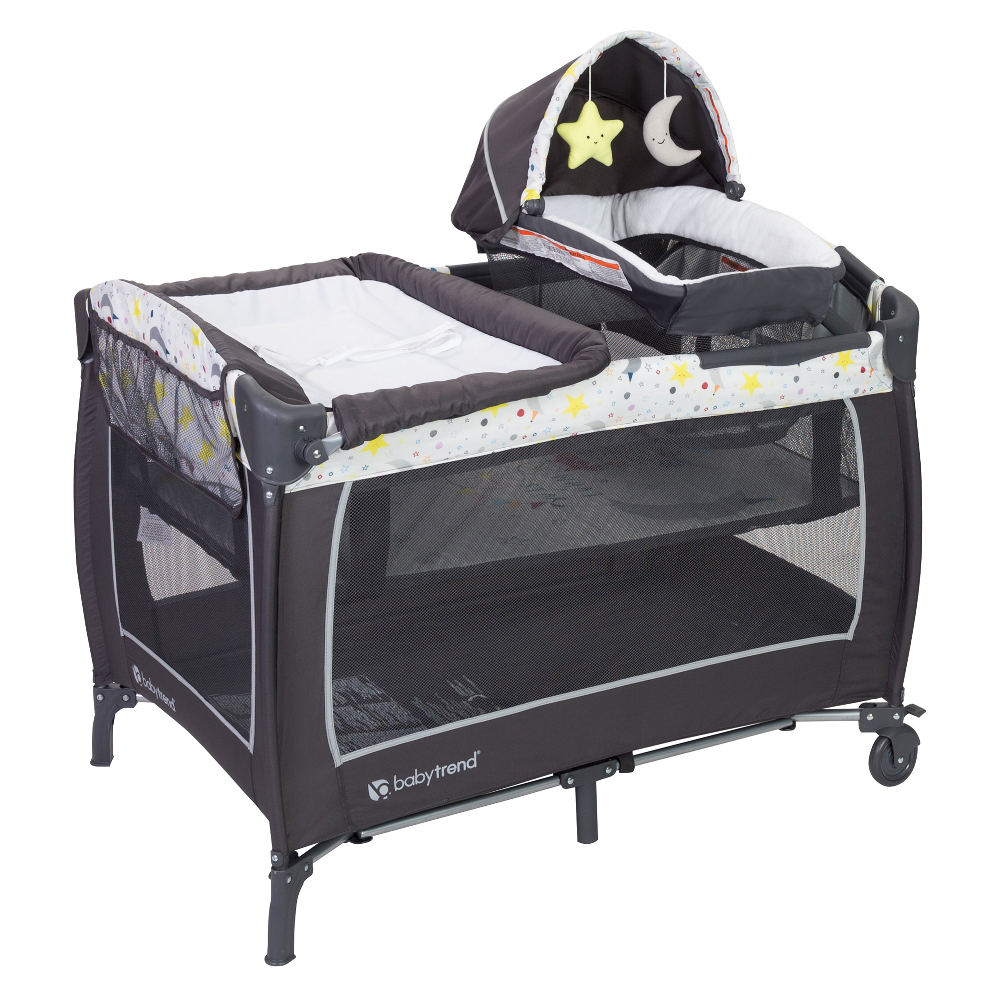 Baby Trend Lil Snooze Deluxe II Nursery Center Playard, Twinkle Twinkle Little Moon