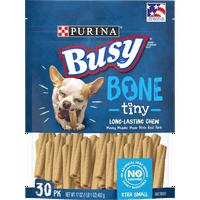 Purina Busy Toy Breed Dog Bones, Tiny - 30 ct. Pouch