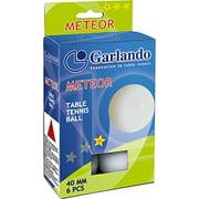 Garlando Meteor 1 Star Table Tennis Ball (6 PK)