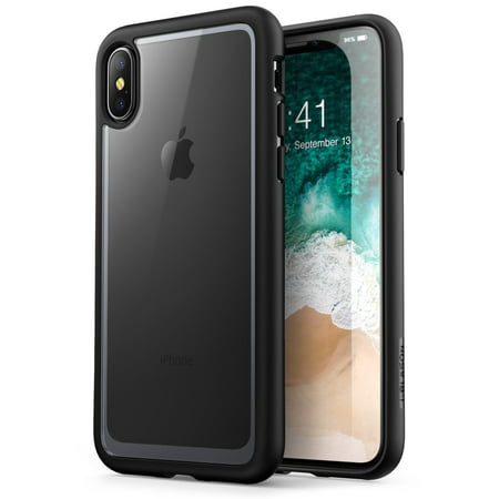 6090f79691 iPhone X Case, [Scratch Resistant] i-Blason Clear [Halo Series], Iphone X,  Black - Walmart.com