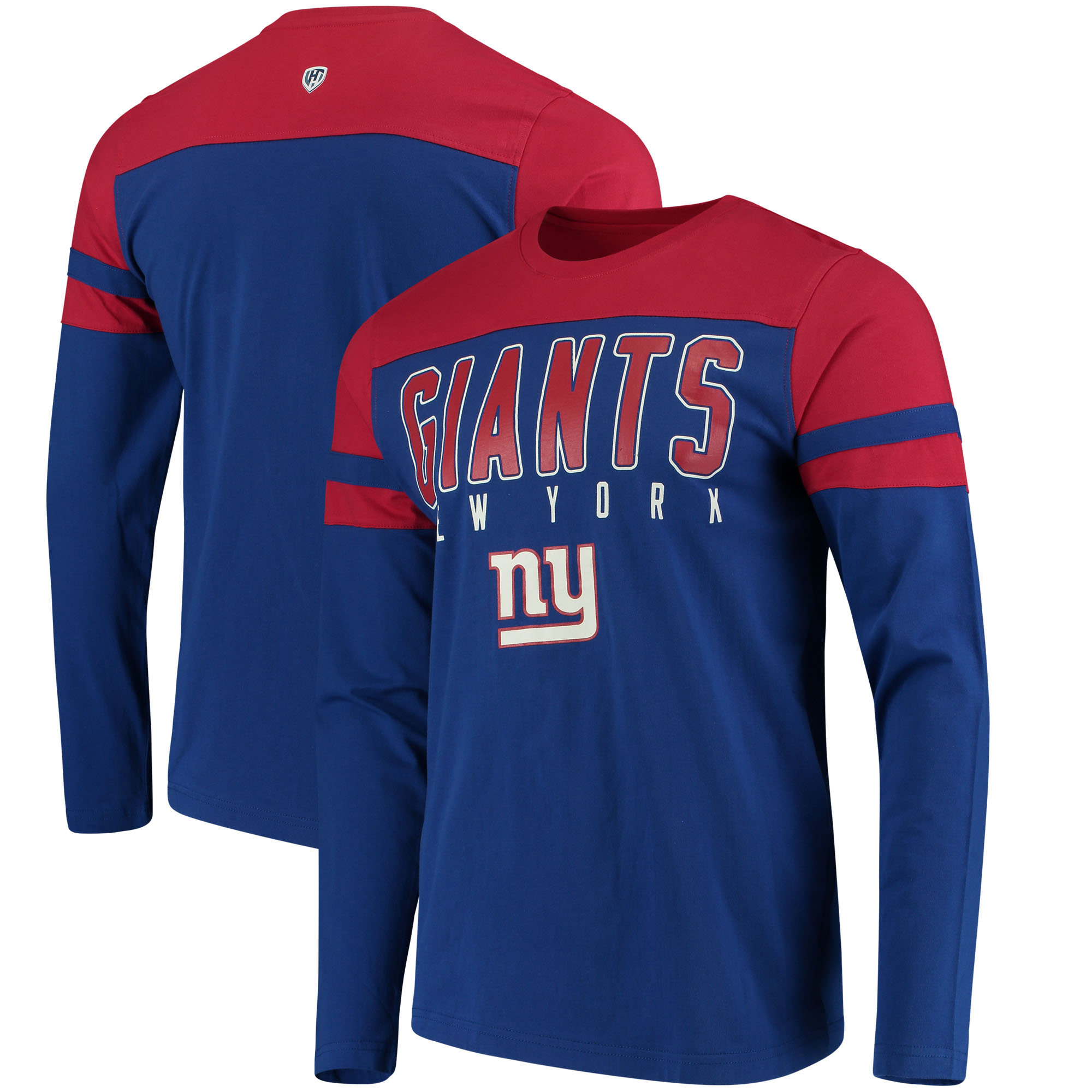 New York Giants Hands High Lifestyle Playoff Long Sleeve T-Shirt - Royal/Red